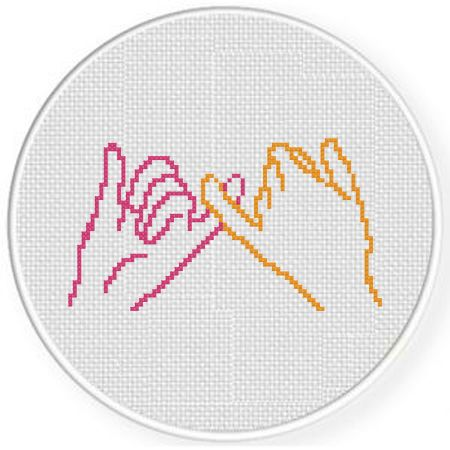 Photo of Pinky Promise Cross Stitch Pattern