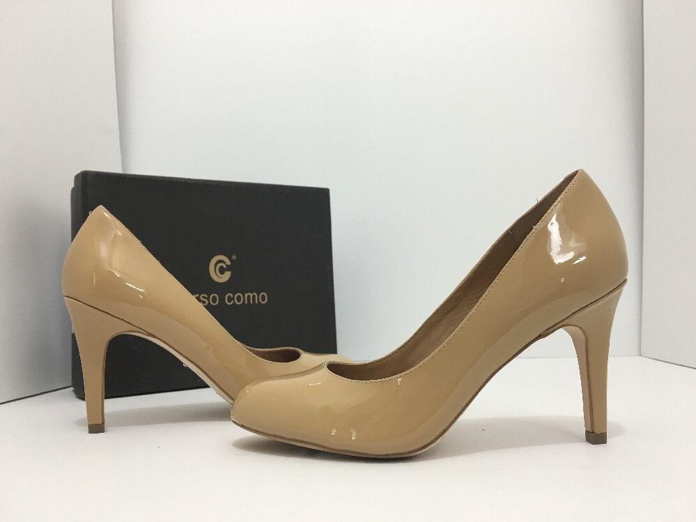 c21b58dd70 Corso Como Del Beige Patent Leather Women's High Heels Pumps Size US 7.5 M