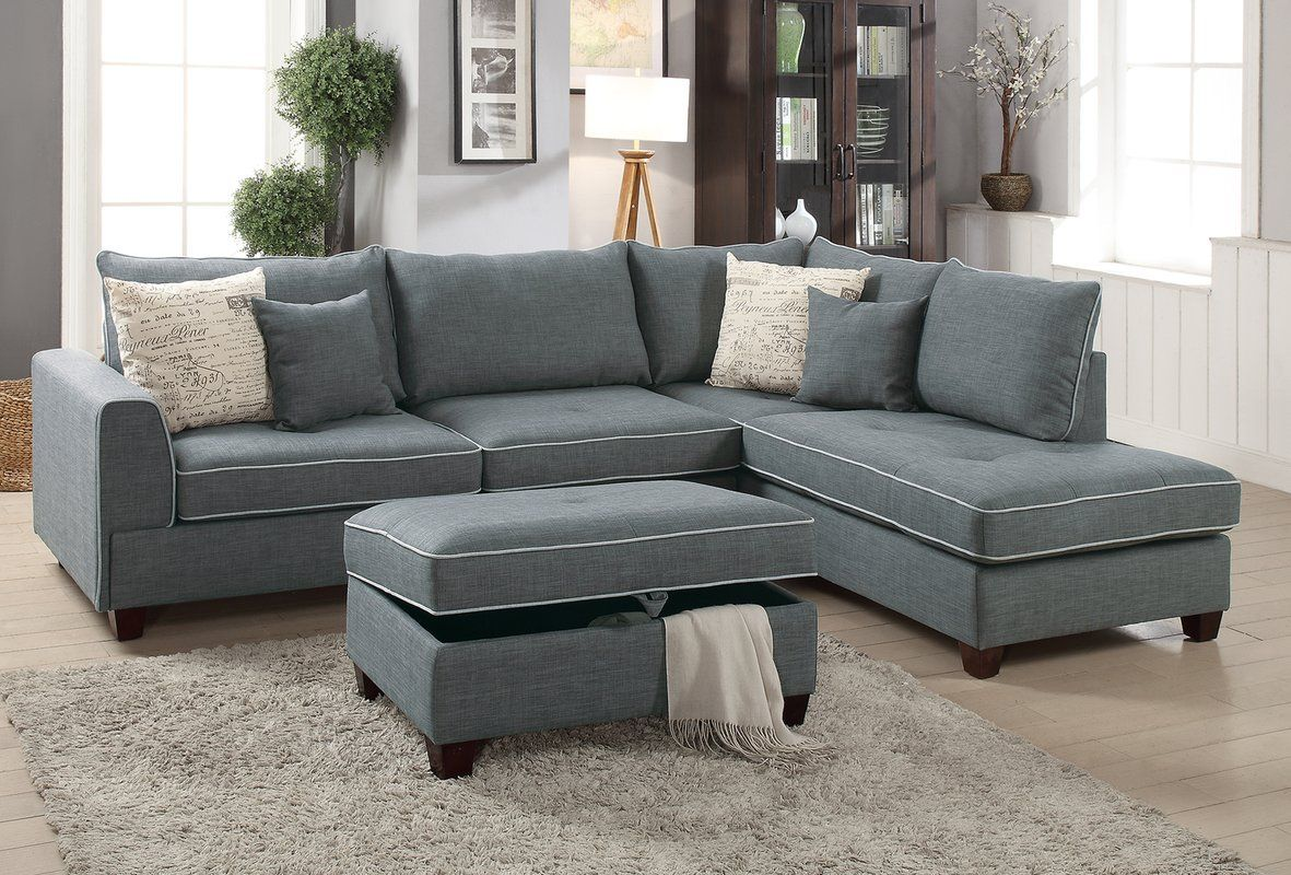 Cool Malta Reversible Sectional With Ottoman In 2019 Style Bralicious Painted Fabric Chair Ideas Braliciousco