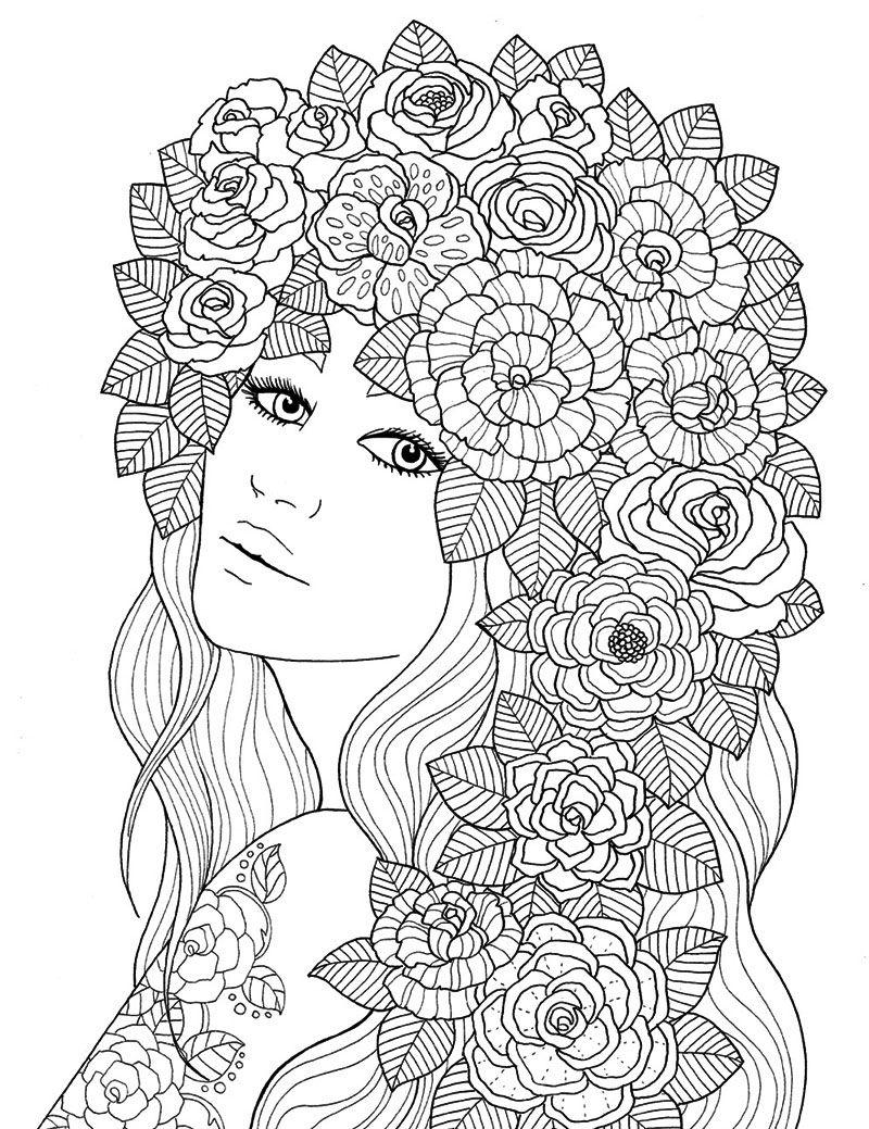 Flower portrait cool art ideas pinterest portraits flower and