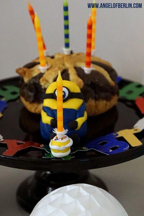 Angel of Berlin bakes Poppyseed Cake with Fondant Minion - küche zu verschenken berlin