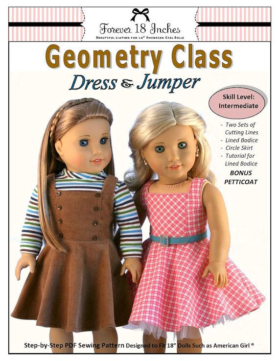 Pixie Faire Forever 18 Inches Geometry Class Dress & Jumper | Puppen ...