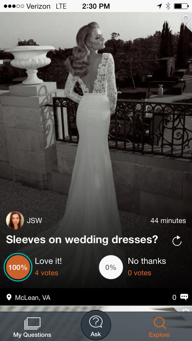 Sleeves on wedding dresses?