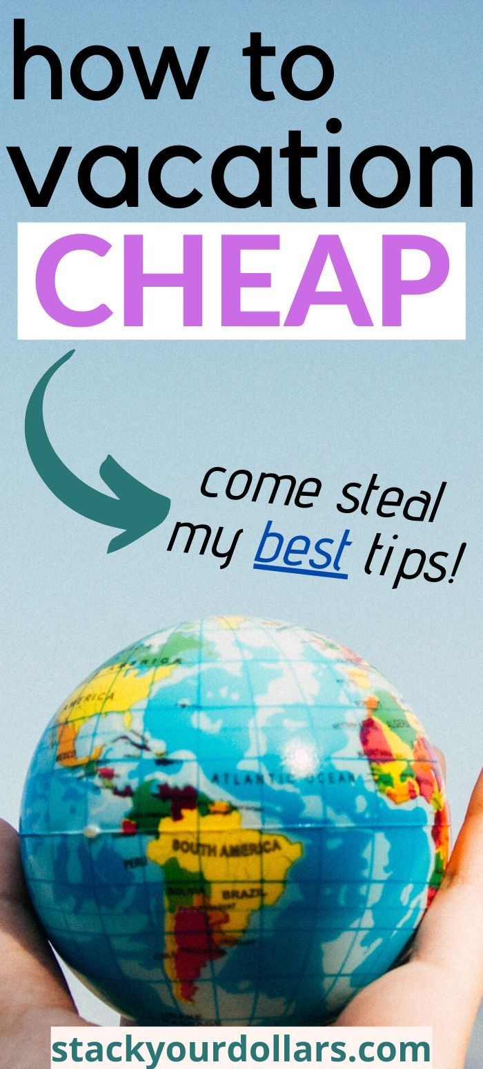 Many people have asked me how to vacation for cheap. Traveling on a budget is something I love to do, and I'm a frugal traveler, so I have found several ways to save money on travel.  In this post, I share my best tips for cheap vacations. You can learn how to plan a vacation on a budget, too! Hopefully these travel tips will help you travel more regularly! #cheapvacation #budgettravel #stackyourdollars #vacationtips #frugaltravel #traveltips #vacationforcheap #travelbudget #frugalvacation