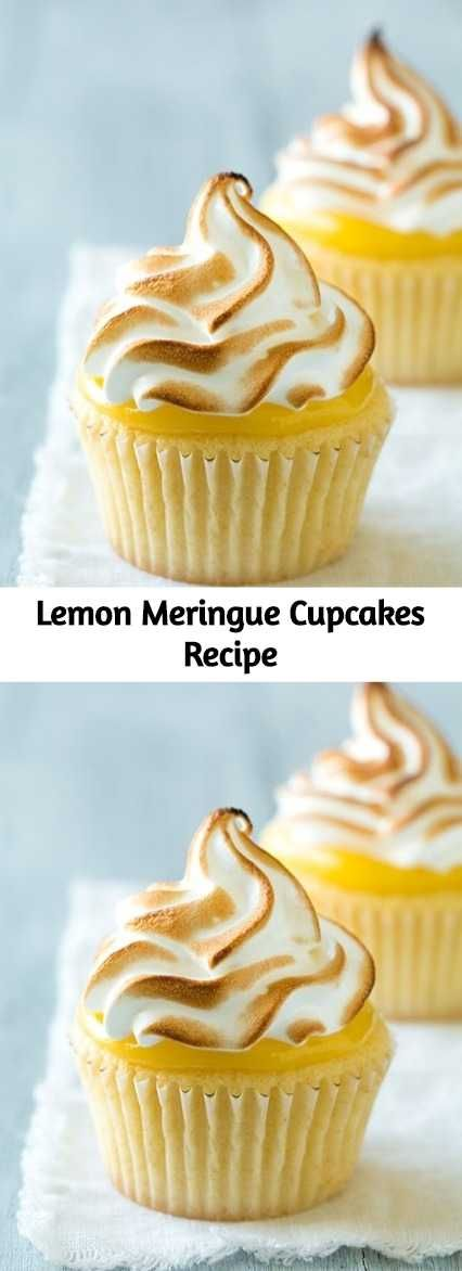 Lemon meringue pie is such a classic dessert and every classic dessert must be created into a cupcake version right? You get a soft cupcake base, a bright creamy lemon curd, and it's finish with a light as air meringue topping. #lemonmeringuecupcakes