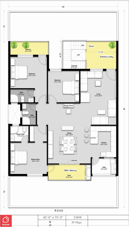 South Facing House Floor Plans Plan 20x40 20 X 50 30x40
