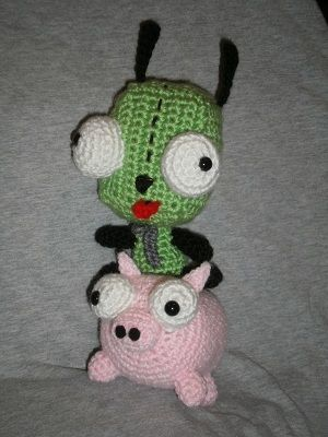 Piggy From Invader Zim Amigurumi Crochet Crotch Etting