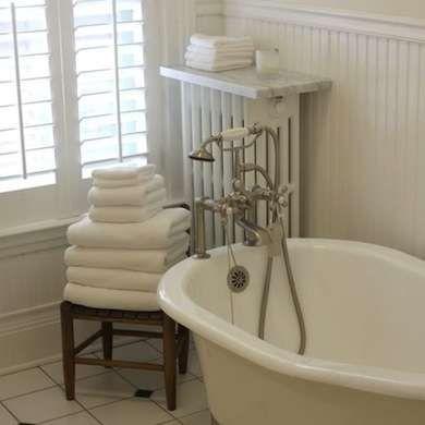 11 Stylish Ways To Enhance Or Hide Your Radiators Home Radiators Patterned Bathroom Tiles Radiator Shelf