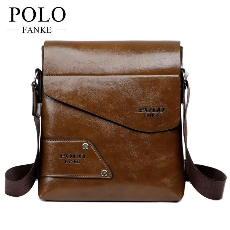 MIOHS FANKE POLO Brand Men s Business Bags PU Leather Man Handbags Men  Messenger 93e43b107c5ec