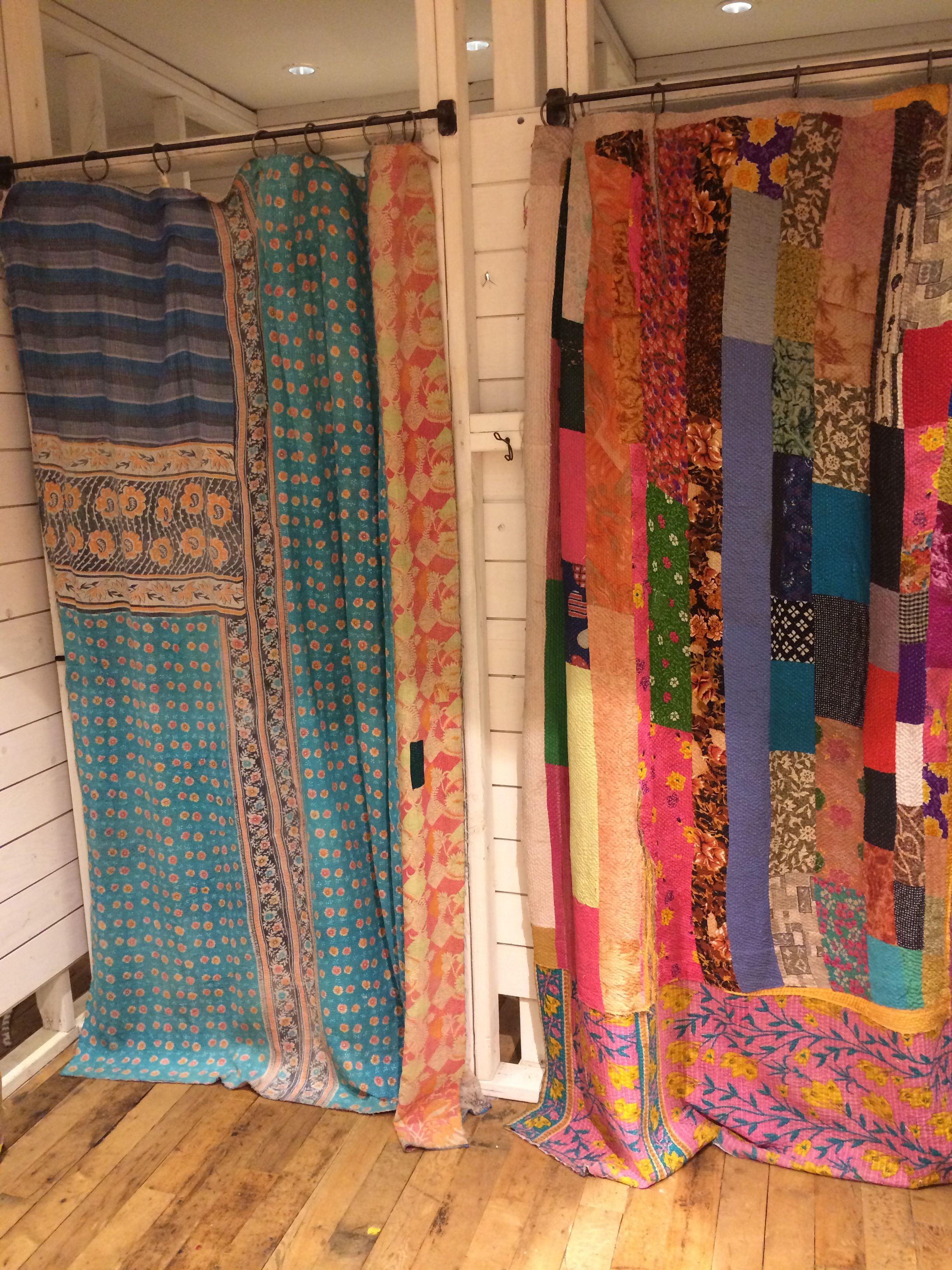 Drapes from left over fabric, great idea