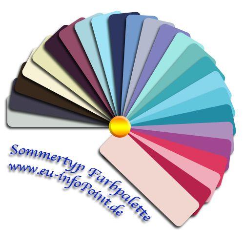 Eine farbpalette f r den sommertyp sch nes pinterest - Farbkarten kostenlos ...