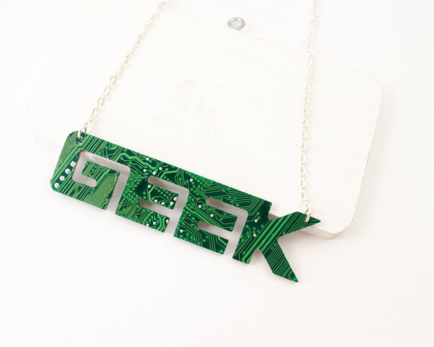Circuit Board GEEK Necklace - Geeky Nameplate Jewelry | Products ...