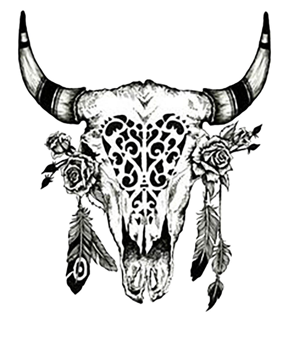 Cattle Drawing Cow S Skull Red White And Blue Clip Art Tattoo Png Download 983 1183 Free Tra Bull Skull Tattoos Skull Tattoo Flowers Cow Skull Tattoos