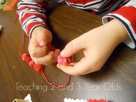 Teaching 2 and 3 Year Olds: Christmas White Clay Necklaces