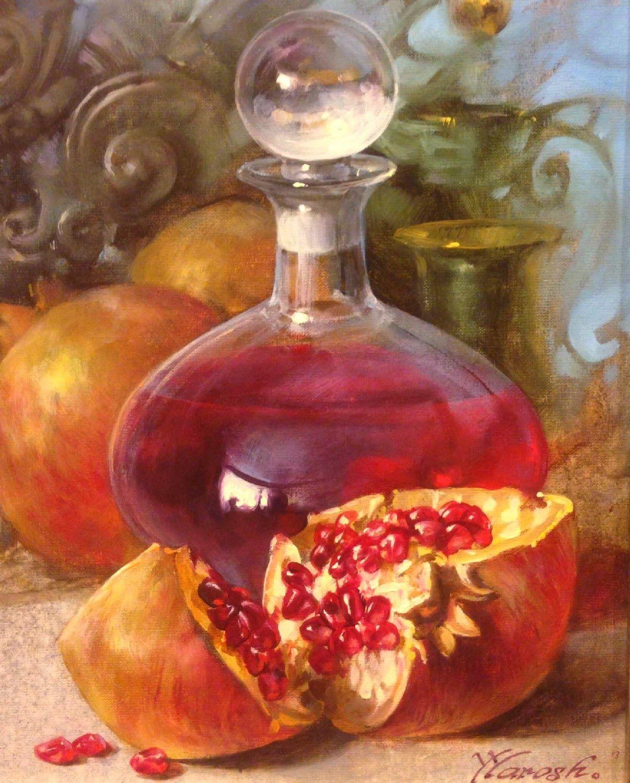 Yurij Yarosh Yuri Yarosh Kai Fine Art Fruit Painting Still Life Art Wine Art