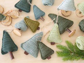Drei Häkelmuster für Weihnachtsanhänger #breienenhaken
