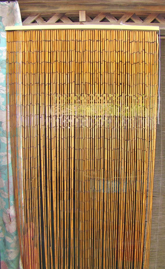 Bamboo Beaded Curtain Divider Boho Decor Instead Of A Door