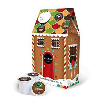 Product Keurig Gingerbread House 9 Pk Variety Pack K Cups House Gift Box Keurig Gingerbread House