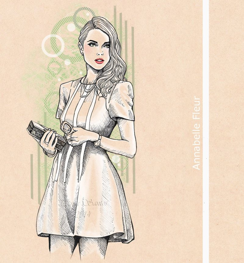 illustration with one of my favourite fashion bloggers ...
