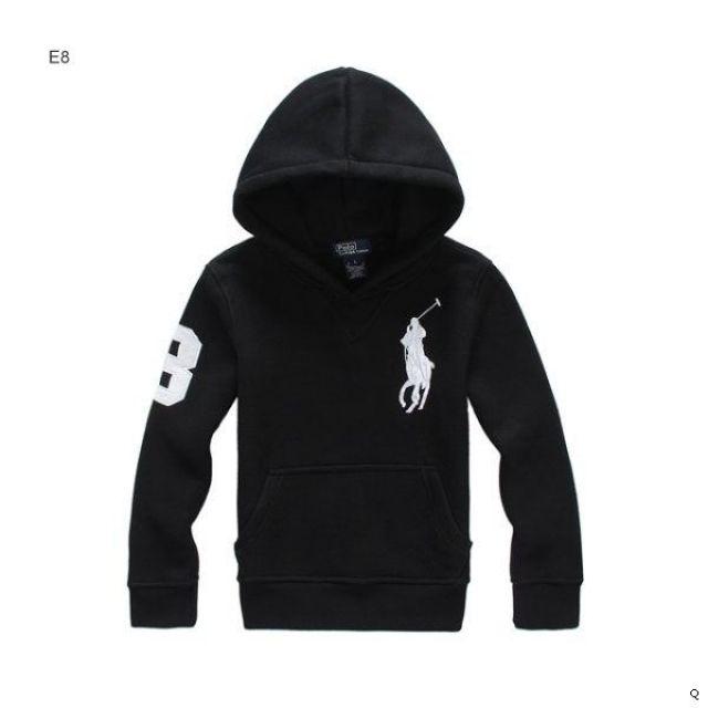 Clearence 10GMIIKG Men Buy Cheap Authentic Ralph Lauren Grey Soft Big Pony Hoody