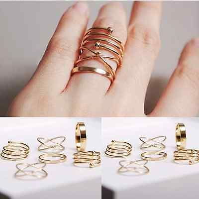 6PCS-Set-Rings-Urban-Gold-stack-Plain-Simple-Above-Knuckle-Ring-Band-Midi-Ring
