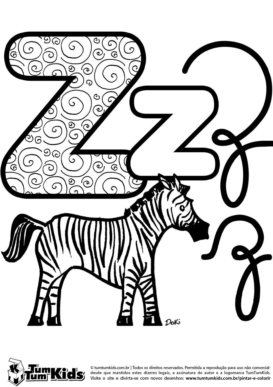doki-alfabeto-letra-z-imprimir | Abecedários | Pinterest | School