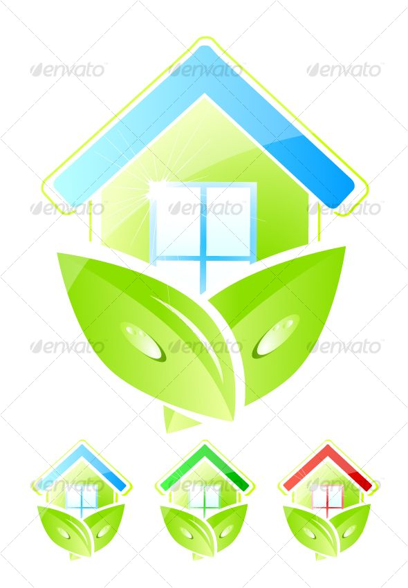 VECTOR DOWNLOAD (.ai, .psd) :: https://realistic.photos/article-itmid-1000069966i.html ... Green home icons ...  building, clean, design, ecology, environment, green, home, house, icon, leaf, nature, sign, symbol, vector, water  ... Vectors Graphics Desig