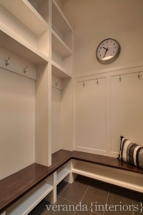 Mud Room, Built In Storage Bench, Hooks For Coats Good Use Of Corner