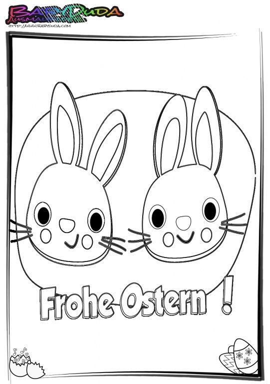 Osterhasen-Ausmalbilder lizenzfrei zum Ausdrucken