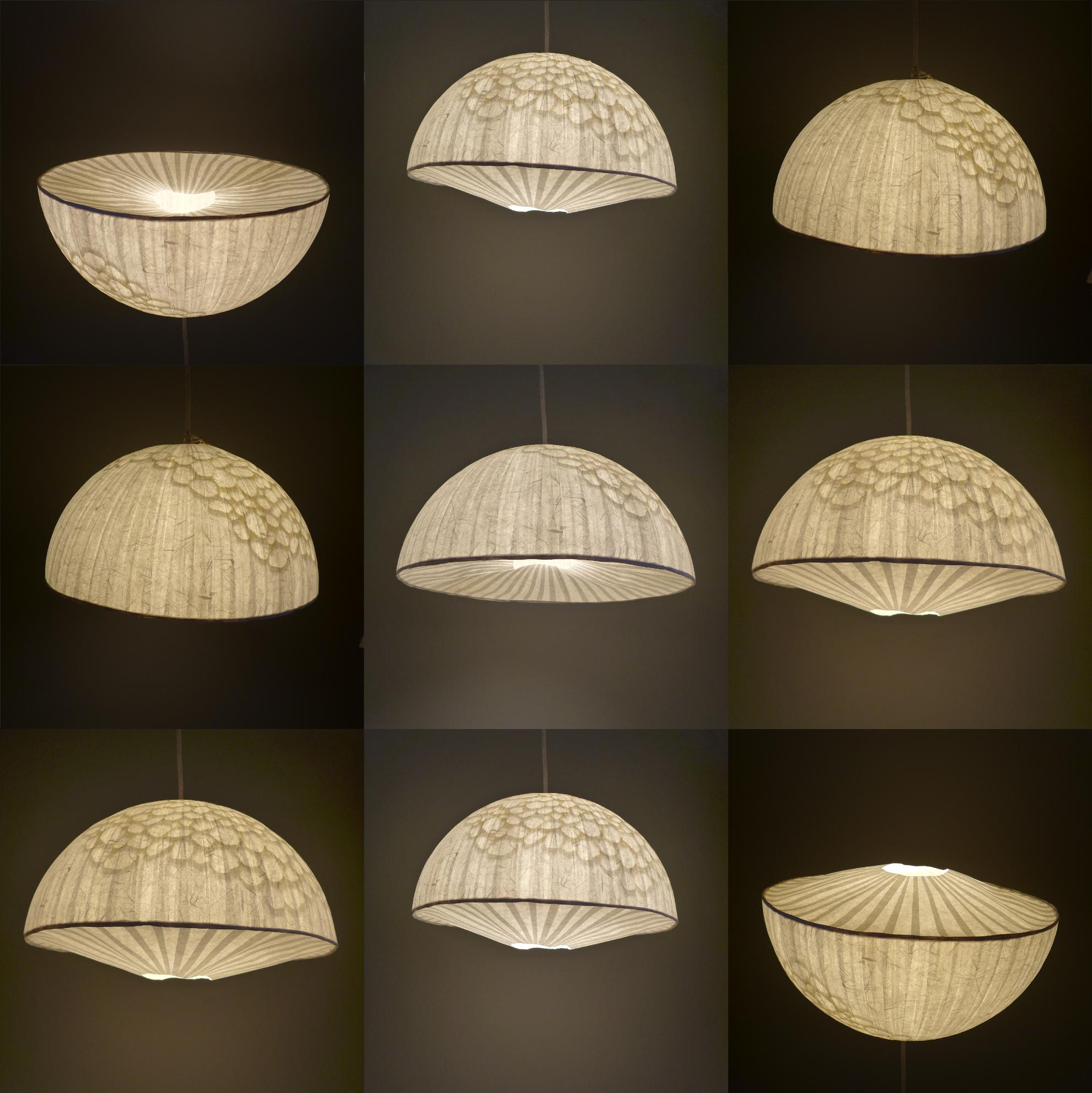 handmade paper lamp suspension en papier lámparas hechas a mano en