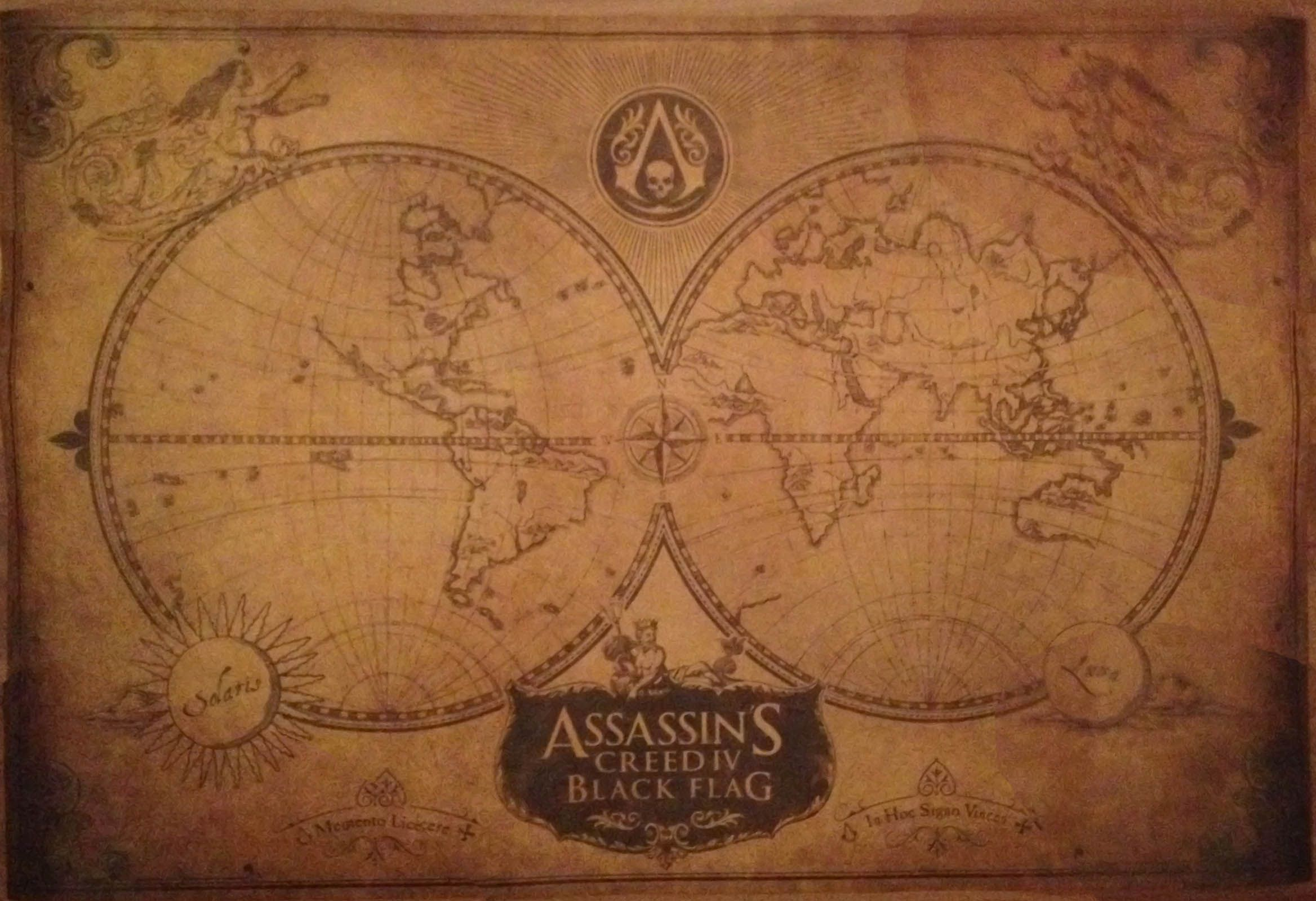 Assassin S Creed Iv Black Flag Black Chest Edition World Map