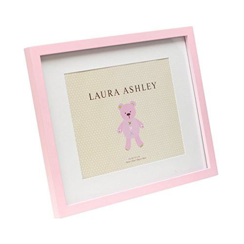 Laura Ashley Pink Baby Girl Wood Frame with White Mat