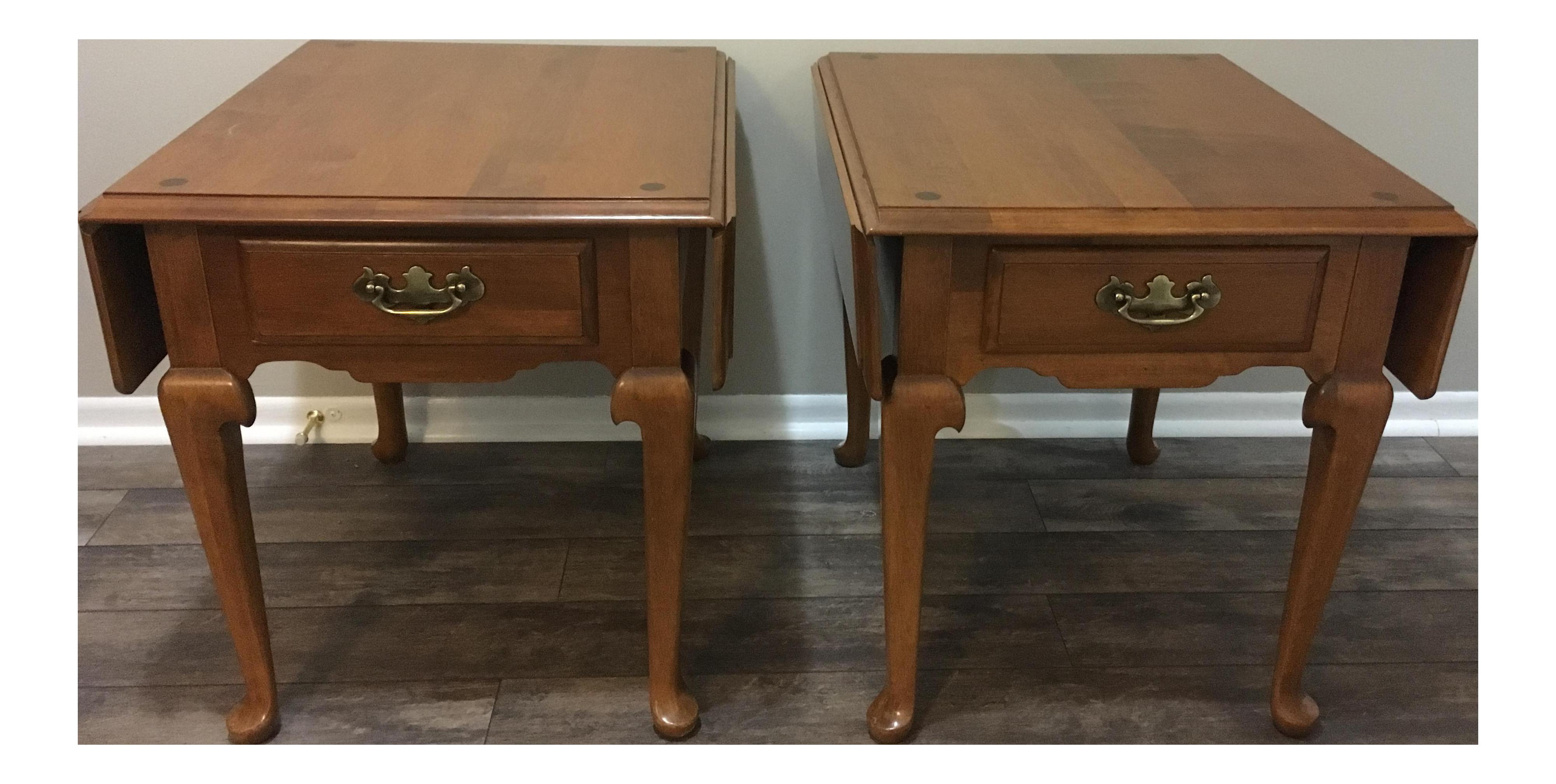 Vintage Ethan Allen Drop Leaf Side Tables A Pair On Chairish Com