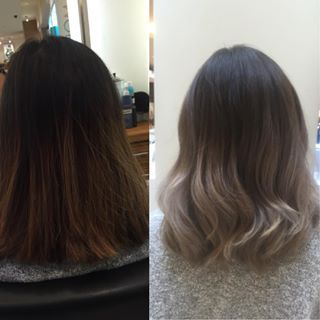Ash Blonde Ombre Short Hair Asian Google Search With Images
