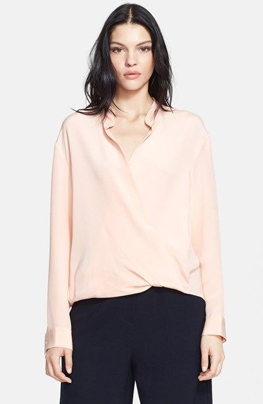 3.1 Phillip Lim Draped Silk Blouse available at #Nordstrom