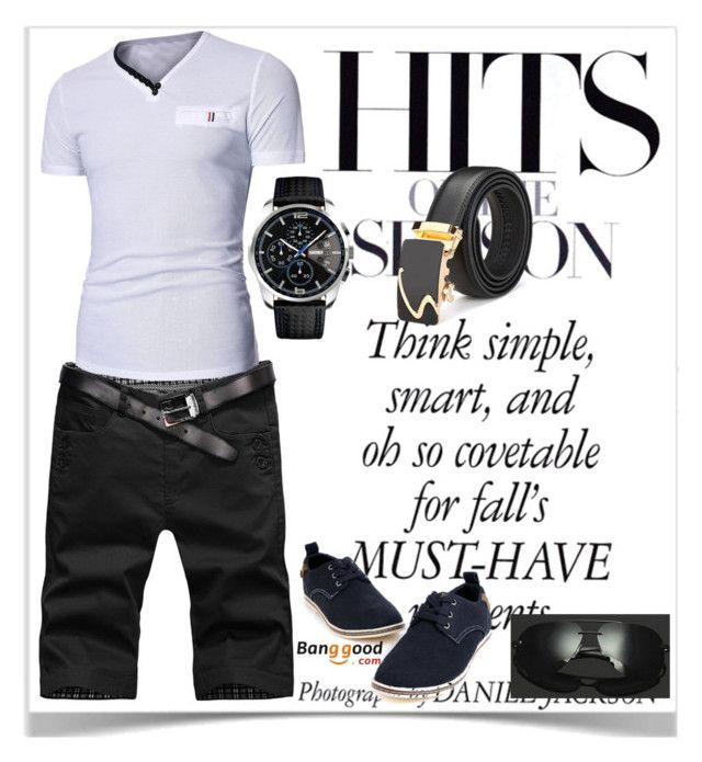 """10#Banggood"" by kiveric-damira ❤ liked on Polyvore featuring men's fashion and menswear"