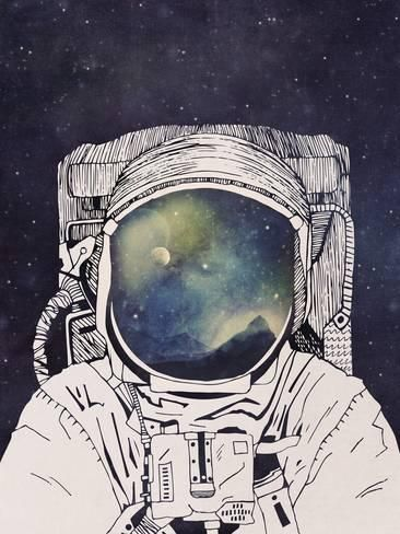 Art Print: Dreaming Of Space by Tracie Andrews : 24x18in