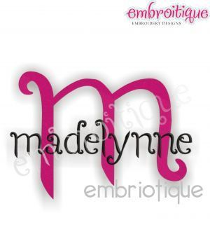 Oct - Dec - Madelynne Embroidery Alphabet Monogram Set on sale now at Embroitique!