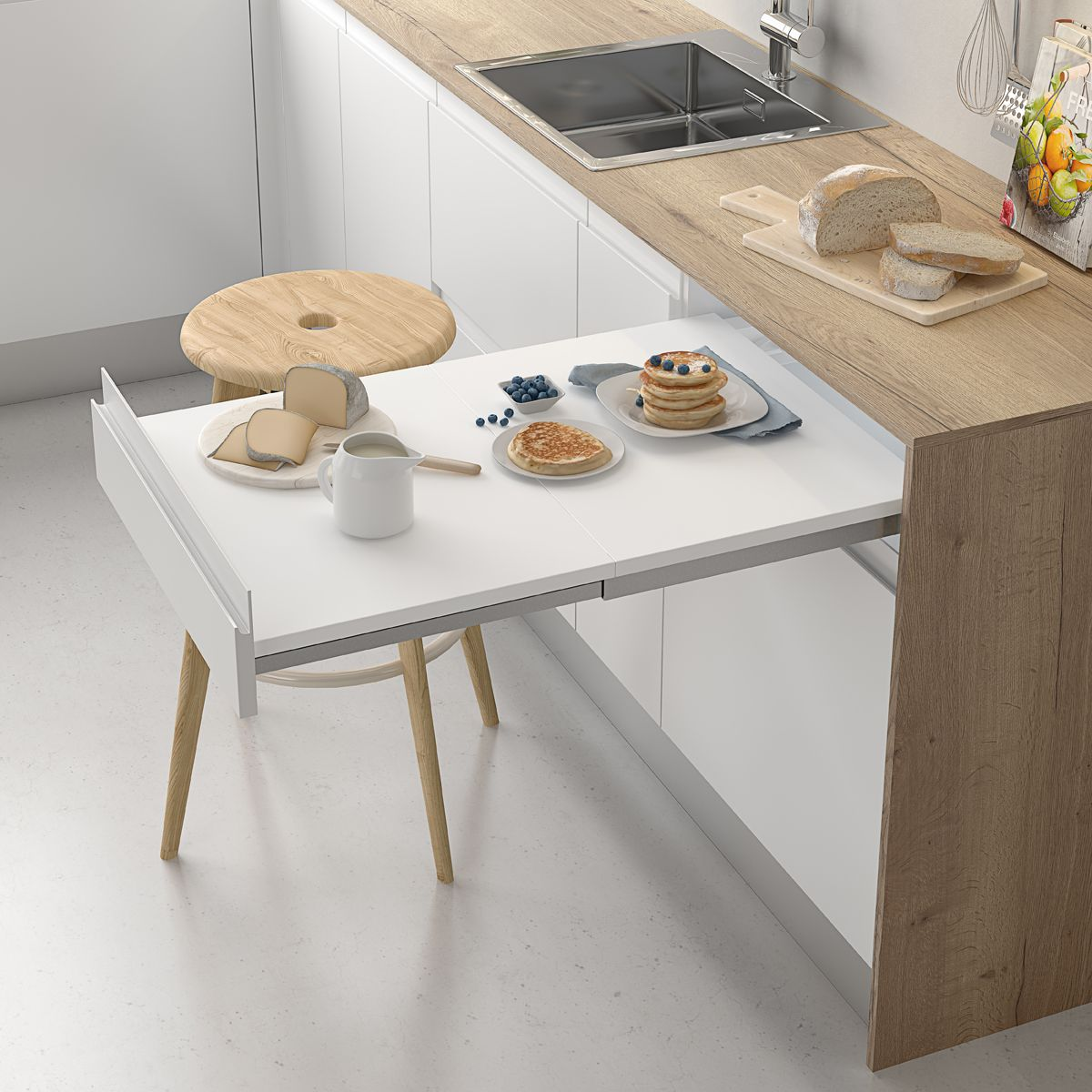 """Pull-out table Fijo """"Menage confort CLASSIC""""  Gamma fittings in"""