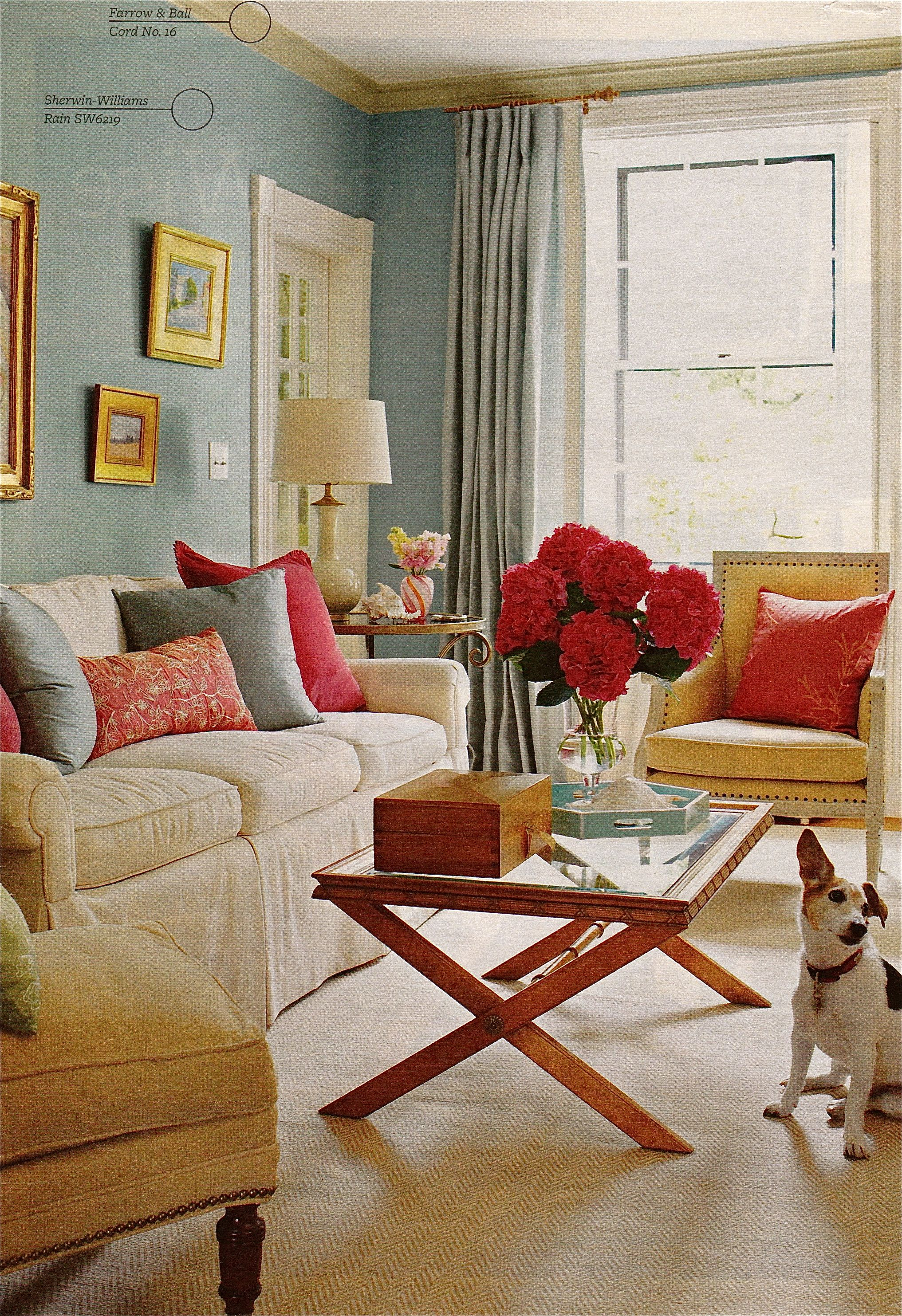 More Cool Blues With Punches Of Cranberry Blue Living Room Condo Decorating Room Decor