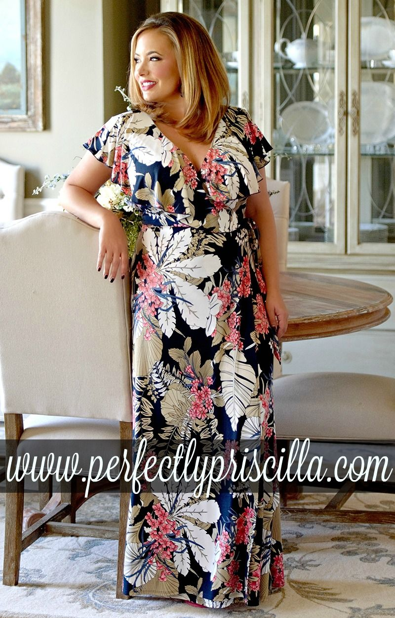 Curvy fashion trendy look plussize spring collection