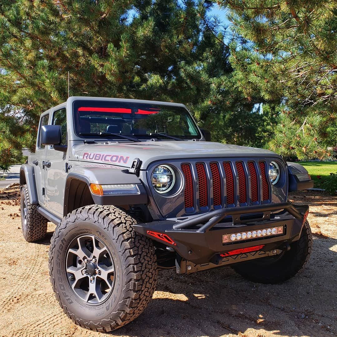 Sting Grey Jeep Wrangler Jlu Rubicon With Our Alien Sunshade Cherry Red Front Half Mesh Top Cherry Red Offers Red Jeep Wrangler Jeep Wrangler Jeep Interiors