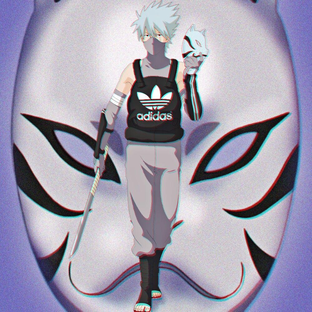 Kakashi Adidas anbu Naruto shippuden anime, Naruto fan