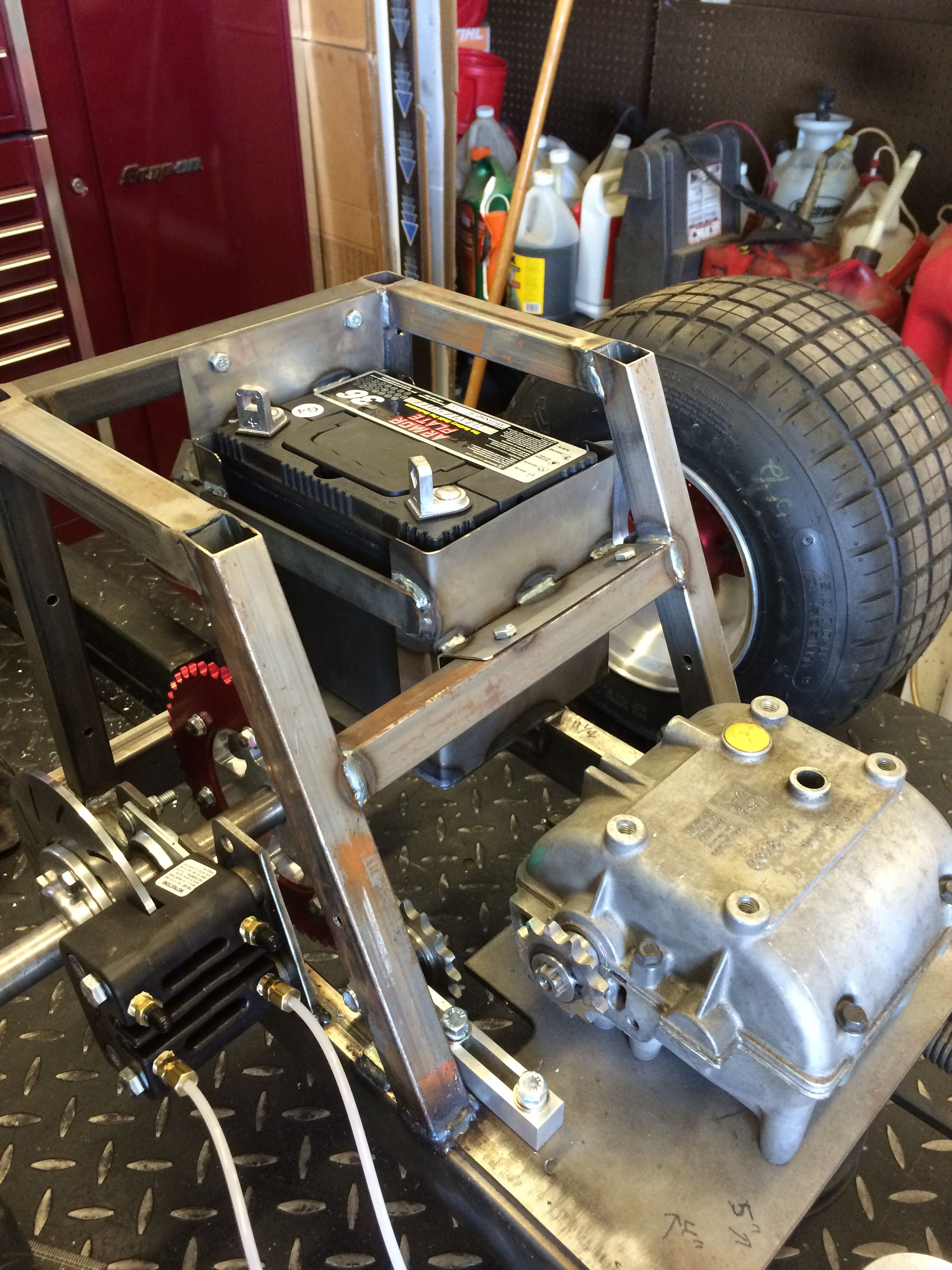 Racing Mower Front Axle : Rear battery box racing mowers pinterest tractor