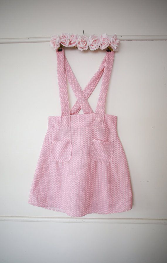 04fabd14f37 Vintage 60s Style Pastel Pink Pinafore Summer Cute Lolita
