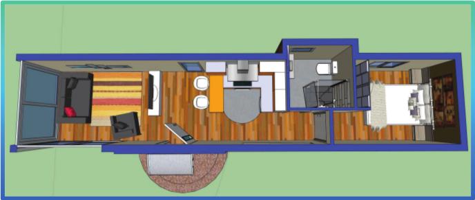 Casa contenedor de 32m2 casa container pinterest - Contenedores maritimos para vivienda ...