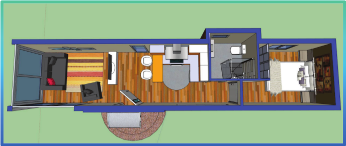 Casa contenedor de 32m2 casa container pinterest Casas con contenedores precios