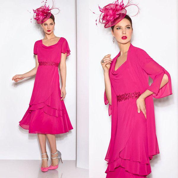 Tea Length Mother Bride Dresses Sleeves Grace Karin Evening Dressess ...
