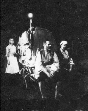 Margaret Robertson as MC at the back of her wagon and Renu Setna as the chaplain, and Josephine Welcome as the dumb Kattrin- `Mother Courage`. https://en.wikipedia.org/wiki/Internationalist_Theatre https://www.flickr.com/photos/internationalist_theatre_rockas/albums/72157627886484013