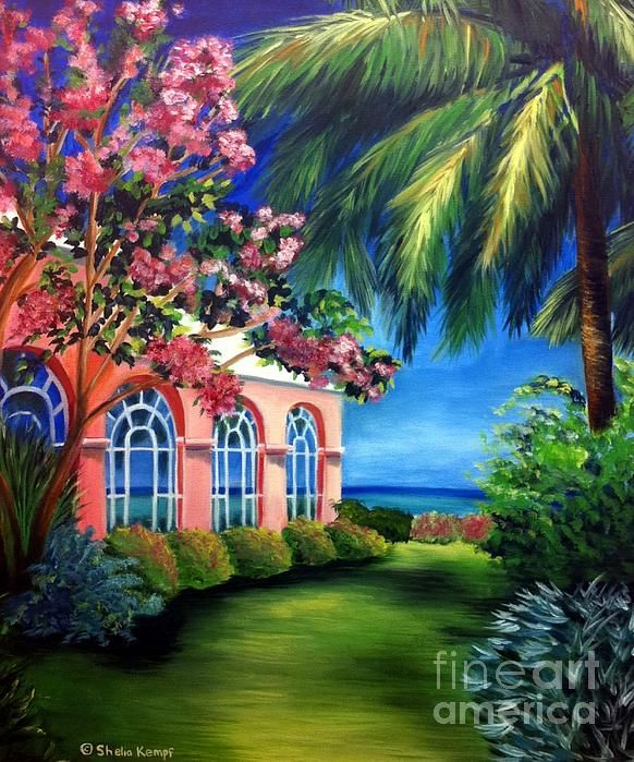 What A View - Barbados Royal Pavilion  by Shelia Kempf prints available on fineartamerica.com